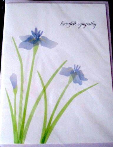 Papyrus Purple Orchid Heartfelt Sympathy Greeting Card