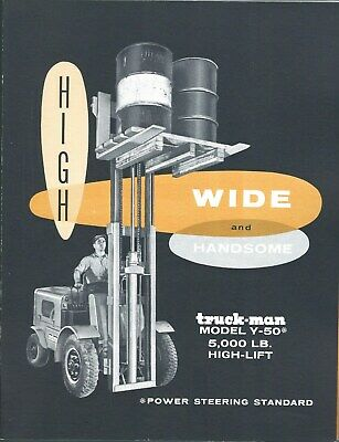 Fork Lift Truck Brochure - Truck-man - Y-50 - 5000 Lb High Lift Lt369