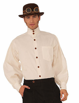Steampunk Shirt Beige Industrial Victorian Costume Accessory Size Standard (Victorian Mens Costumes)