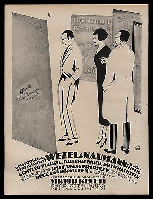 Grosses Reklame 1921 v. Louis Oppenheim für Kunstdruckanstalt Wezel & Naumann II