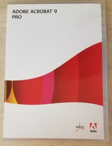 Adobe Acrobat 9 Pro Professional for Windows with Serial Number