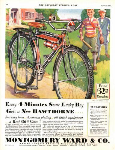 New Hawthorne Flyer -  Montgomery Ward & Co.  -  Bicycle Advertisement  -  1930