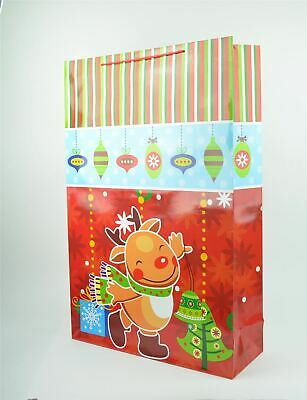 Large Gift Bag Red Color CHristmas Present Party Return Gifts Event Bag Supply ()