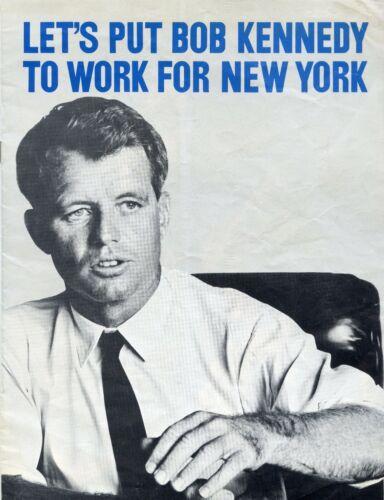 Robert Kennedy RFK Campaign Brochure Flyers Lot -  JG442