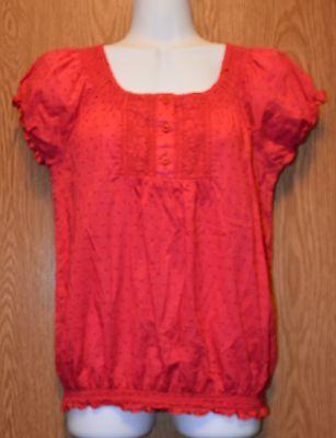 Womens Pretty Pink So Wear It Declare It Cap Sleeve Shirt Size Medium -