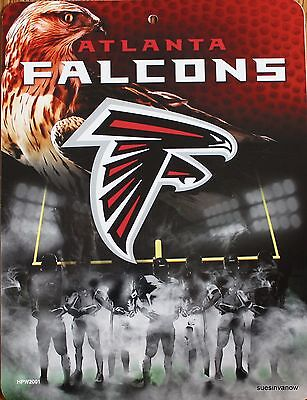 Atlanta Falcons Sign NFL Licensed Football wall picture