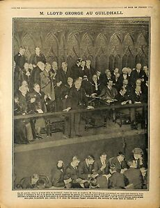 """Lloyd George Guildhall, City of London Londres Lord Mayor Great-Britain 1917 WWI - France - Commentaires du vendeur : """"OCCASION"""" - France"""