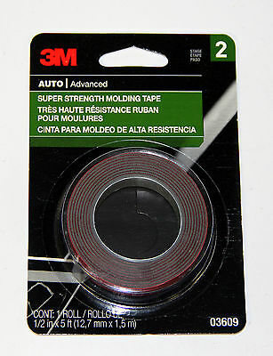 3m mounting tape auto advanced super strength molding 03609 1 2 x 5ft new for sale in. Black Bedroom Furniture Sets. Home Design Ideas
