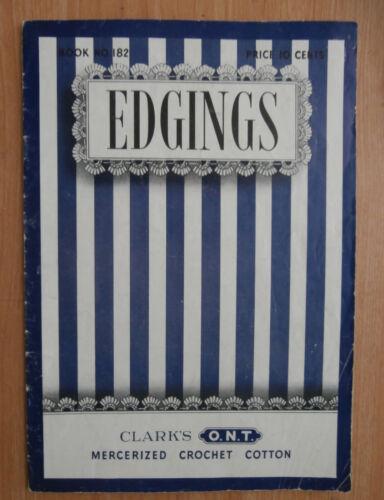Vintage 1942 Edgings Crochet Pattern Instruction Book