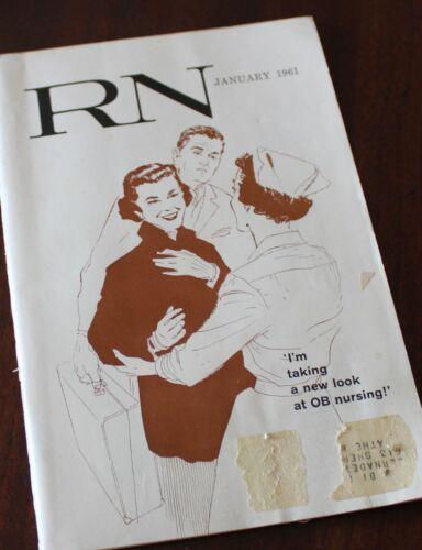 RN Magazine January 1961 Old Advertising Vintage Medicine Rare OB Nursing