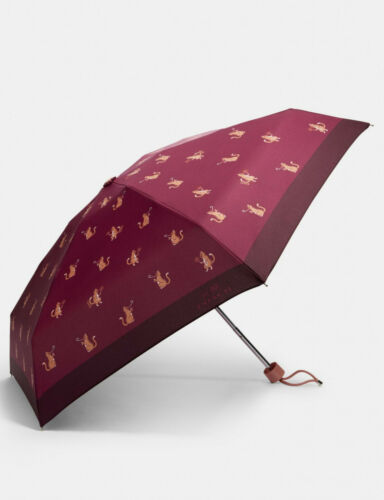 COACH Mini Umbrella In Signature PARTY CAT PRINT NEW with Tags RETIRED