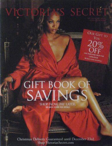 Vintage TYRA BANKS Christmas Gift Book 2001 Victoria
