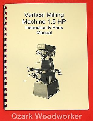 1.5hp Vertical Mill Manual-jet Enco Grizzly Msc Asian 0001
