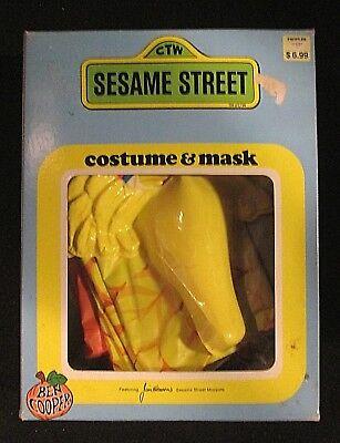 Vintage 1979 Big Bird Sesame Street Halloween Costume Tiny Tot 3-5 Ben Cooper ](Big Bird Halloween)