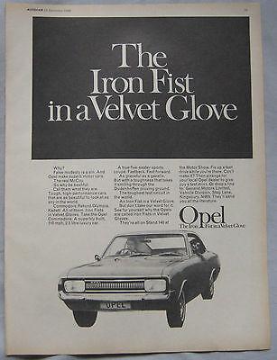 1968 Opel Original advert No.1