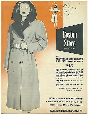 Vintage 1950s  Boston Store Fashion Catalog  adults & Kids