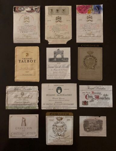 GRAND CRU CLASSES Vintage French Wine Label Collection 12