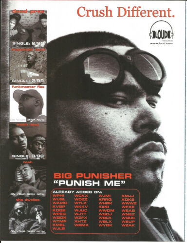 BIG PUNISHER Pun Rare 1999 Punish PROMO TRADE AD Poster For Capital CD MINT USA