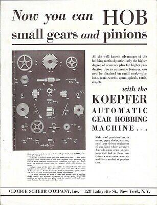 Machine Tool Brochure - George Scherr - Koepher - Gear Hobbing Tl108