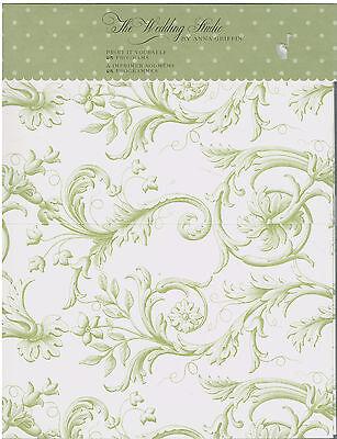 Print Your Own Wedding Programs Green Scrolling Paisley 25 Printer Paper New - Wedding Program Paper