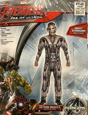 Avengers Age Of Ultron Muscolo Costume Adulto Marvel Misura Standard Nuovo 948