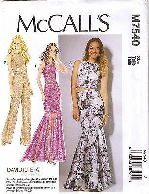 Crop Top Trumpet Dress Skirt Tulip Back Jumpsuit Sewing Pattern 14 16 18 20 22
