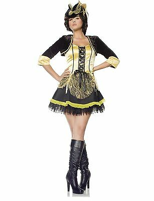 Womens High Seas Pirate Costume Halloween Sailor Adult Ladies Fancy Dress NEW