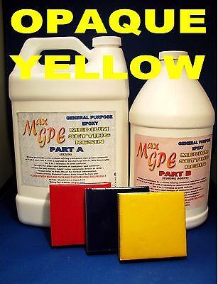 Epoxy Resin Yellow Gel Coat Repair For Marine Craft Fiberglassing Art Resin 1.5