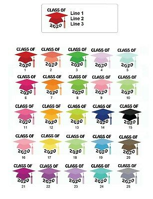 30 Personalized Address Labels Graduation Caps 2020 Buy 3 Get 1 Free Gc1