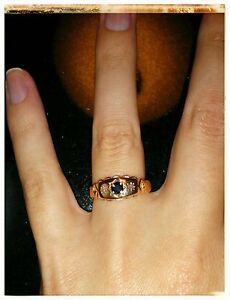 Rose Gold engagement ring with blue sapphire Woolgoolga Coffs Harbour Area Preview