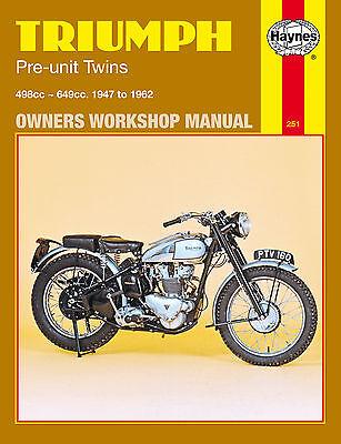 Haynes Manual 0251 - Triumph Pre-Unit Twins (47 - 62) Speed Twin, TR5/TR6 Trophy