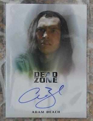 THE DEAD ZONE TRADING CARDS ADAM BEACH AUTOGRAPH CARD