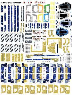 1 72 Bandai X Wing T 65 Blue Group Star Wars Rogue One Decals