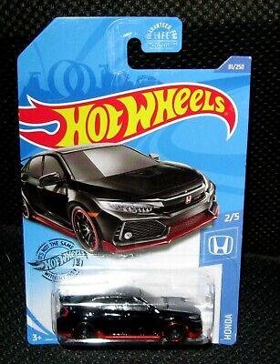Hot Wheels 2018 Honda Civic Type R Black Import 2020 New Series Rare VHTF