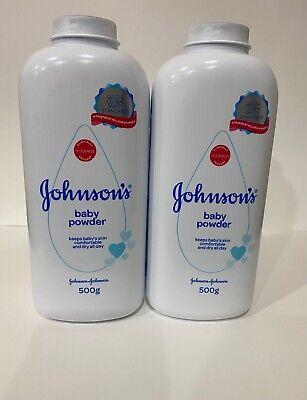 Johnson's Baby Powder 500g 17.6 oz (Pack of 2
