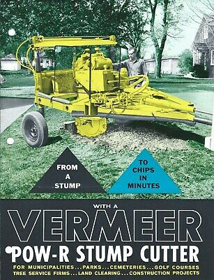 Equipment Brochure - Vermeer - Pow-r Stump Cutter - Tree - C1950s E5365