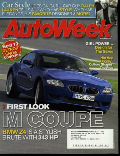 AutoWeek Magazine January 30, 2006 First Look BMW M Coupe 343 HP