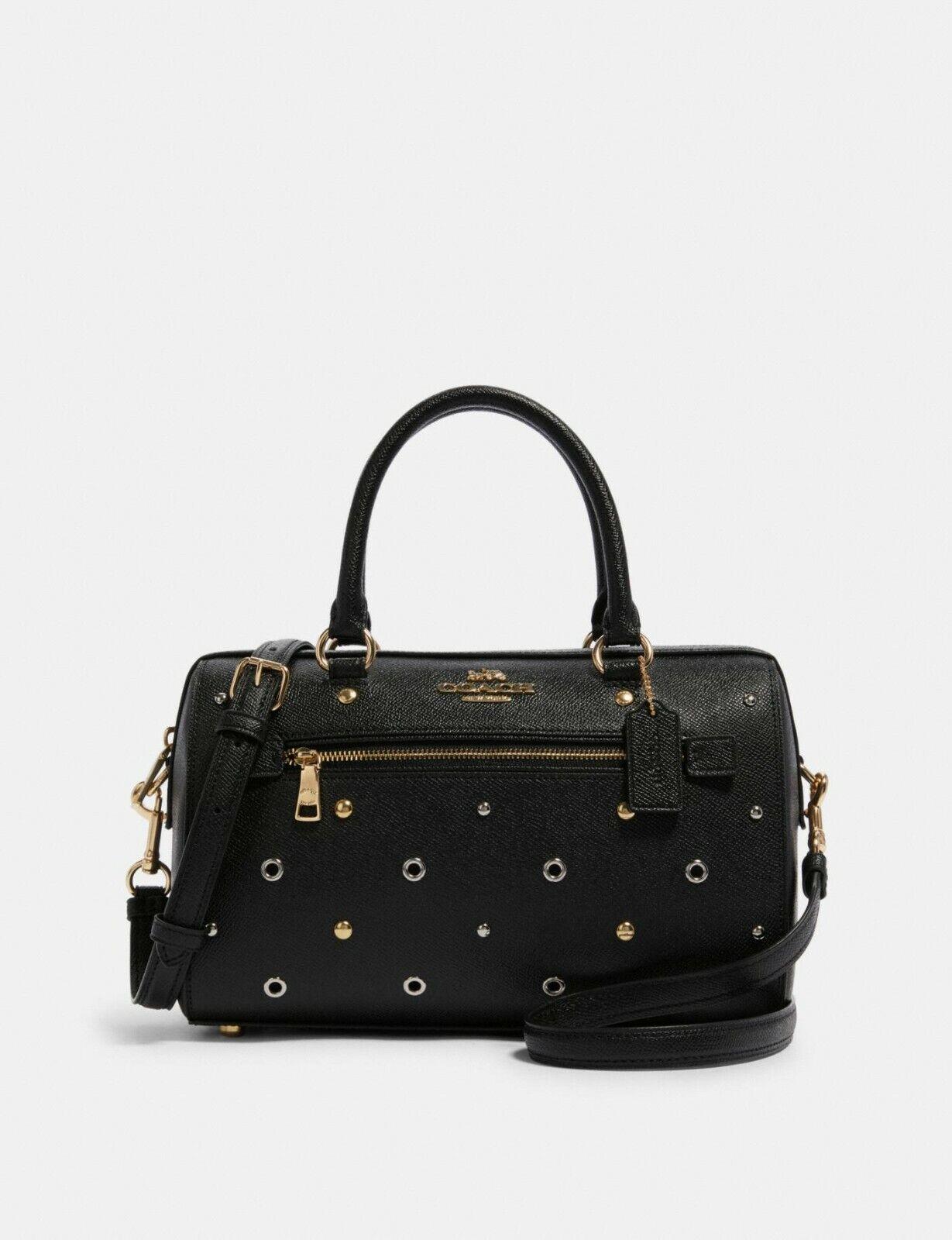 NWT Coach F82128 Leather Rowan Satchel Grommet Handbag Shoul