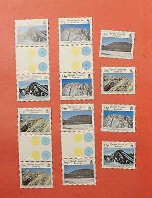 SET + GUTTER PAIRS 1995 BRITISH ANTARCTIC TERRITORY #231-34 MNH CV$36