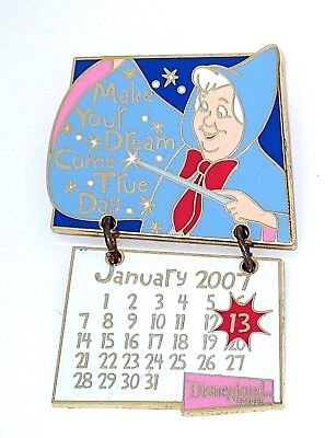 LE Disney Pin✿Cinderella Fairy Godmother Calendar Make Your Dream Come True Wand](Cinderella Fairy Godmother Wand)
