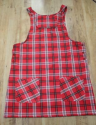 Urban DUNGAREE style 90s Fashion Pinafore Check Tartan Ditsy Dress Clueless NEW