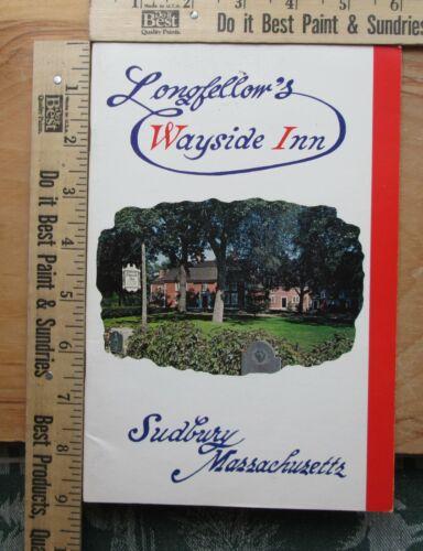 longfellow wayside inn booklet 1985
