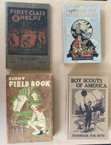 4 Vintage Boy Scouts of America Hand Books