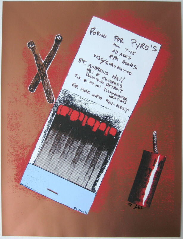 Porno for Pyros Concert Poster Lindsey Kuhn
