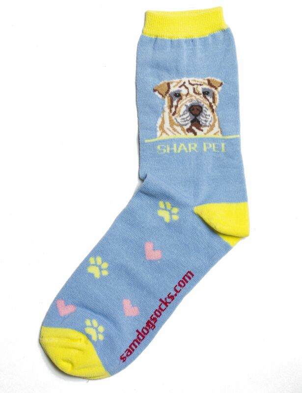 Shar Pei Dog Socks
