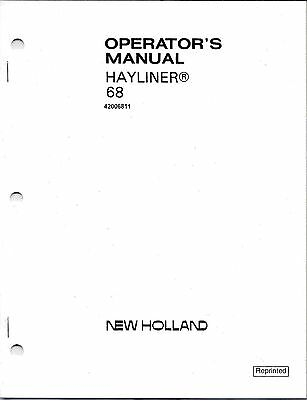 New Holland 68 Square Baler Operator Manual 42006811