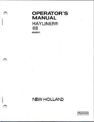 New Holland 68 Square Baler Operator Manual 42006811