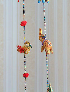 Birds elephants multi colourful wall hangings decoration indian handmade ebay