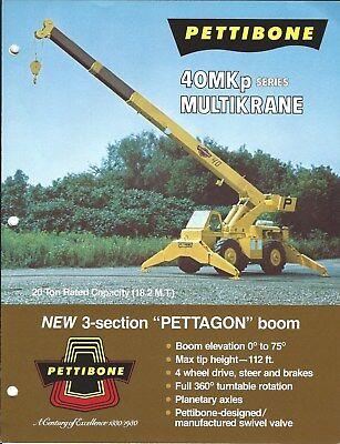 Equipment Brochure - Pettibone - 40mkp Series - Boom Crane - C1983 E4783