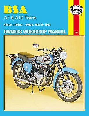 0121 Haynes BSA A7 & A10 Twins (1947 - 1962) Workshop Manual